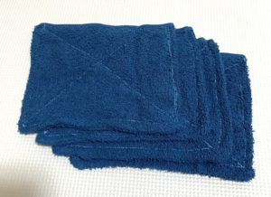 タオル8分の1サイズ雑巾