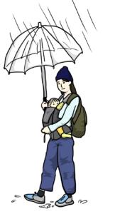 雨の日の格好