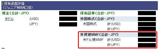 外貨建MMF買付完了後